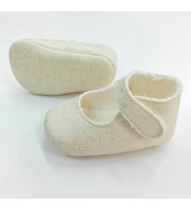 Zapato lino lurex beige
