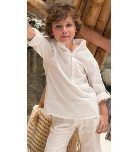 Camisa lino marfil m l - Arca Boutique Infantil-Juvenil fe50c2ca49f