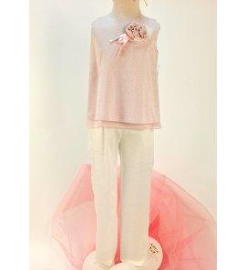 Conjunto blusa- pantalón lurex