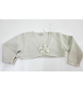 Chaqueta perle lino/blanco