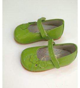 Zapato charol pistacho