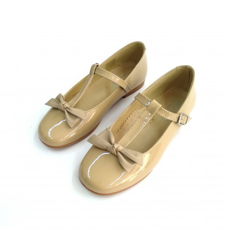 Zapato niña piel-charol visón