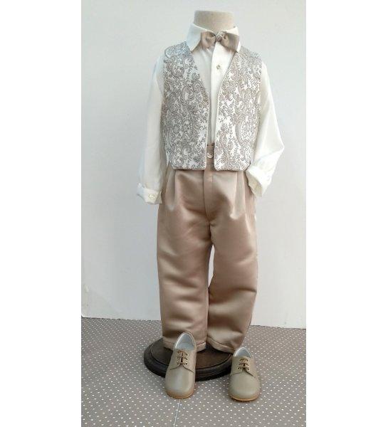 2cdaf10a6e4 Conjunto chaleco largo visón - Arca Boutique Infantil-Juvenil