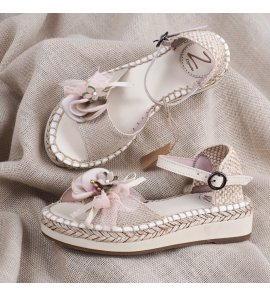 Sandalia lino saco flor