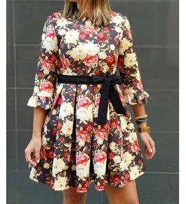 Vestido floral m/f neopreno