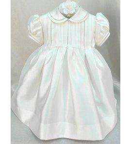 Vestido bautizo gazar de seda