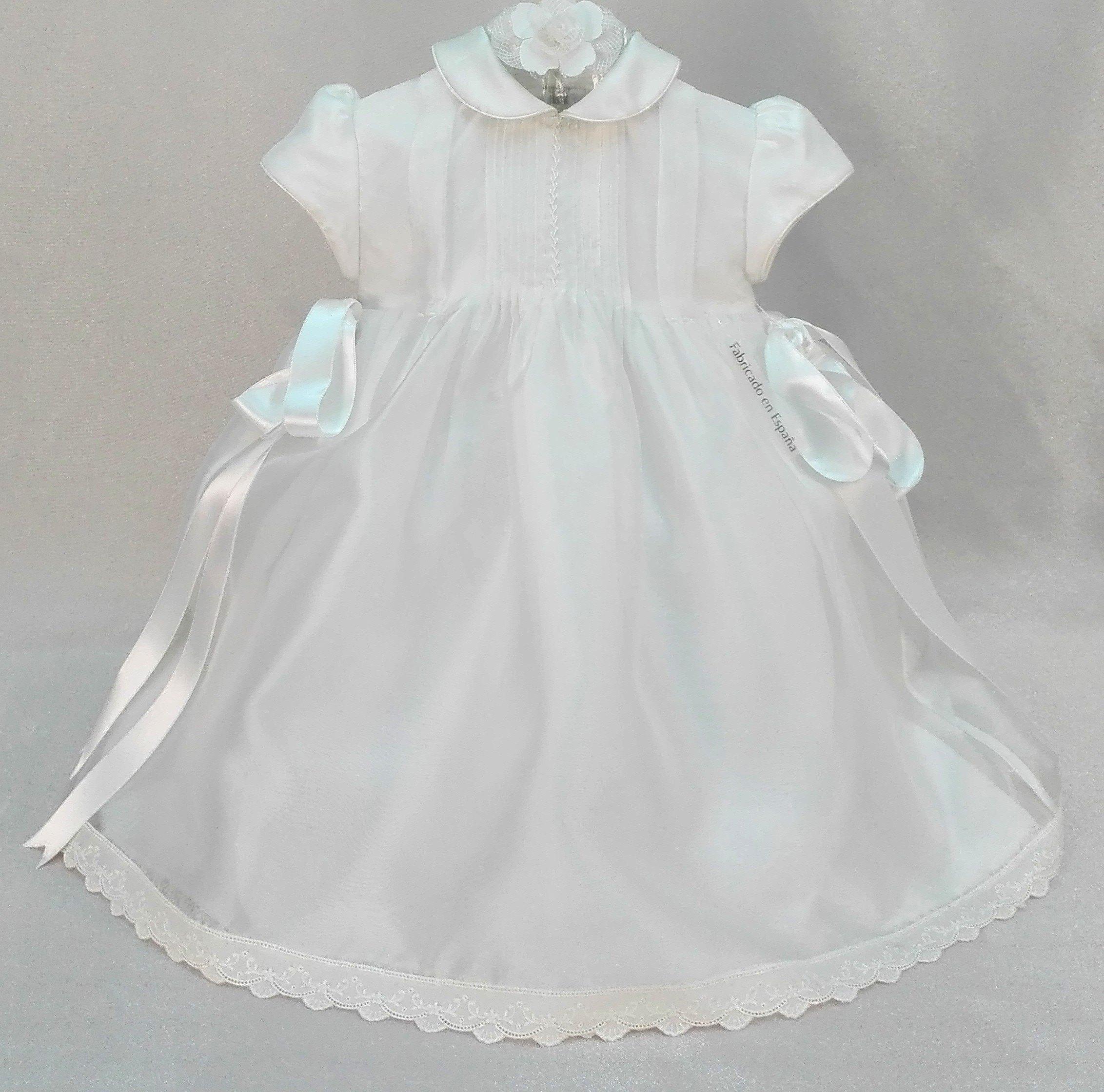 54558811c Vestido bautizo seda marfil - Arca Boutique Infantil-Juvenil