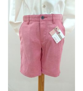 Pantalón chino corto rojo