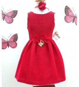 Vestido rejilla rojo