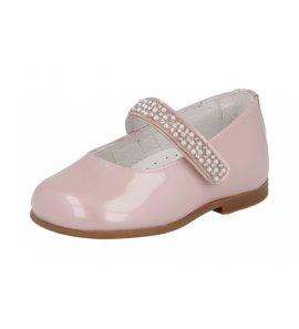 Zapato niña merceditas brillantes velcro