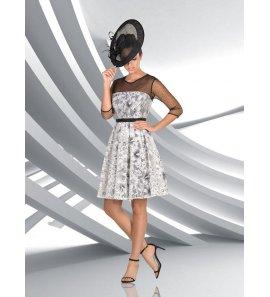 Vestido mujer flores m/f plumetti negro