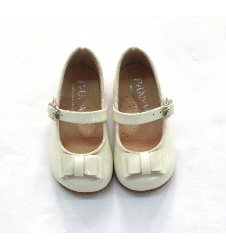 Zapato piel charol blanco