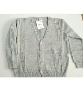 Chaqueta niño lana trenzas