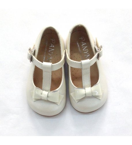 Zapato charol blanco