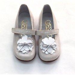Zapato piel charol gris
