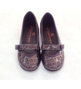 Zapato ch. pitón gris