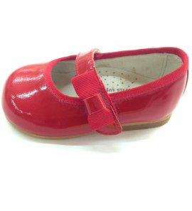 Zapato piel charol rojo