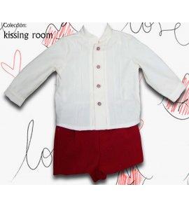 Conjunto bebé niño pantalón corto