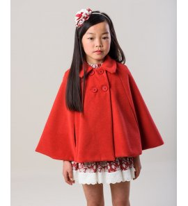 Capa niña pañete rojo