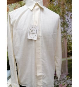 Camisa ceremonia lino beige