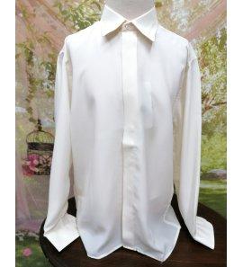 Camisa SEDA BEIGE bordada
