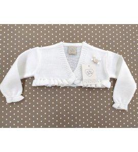 Torera bebé lana crudo